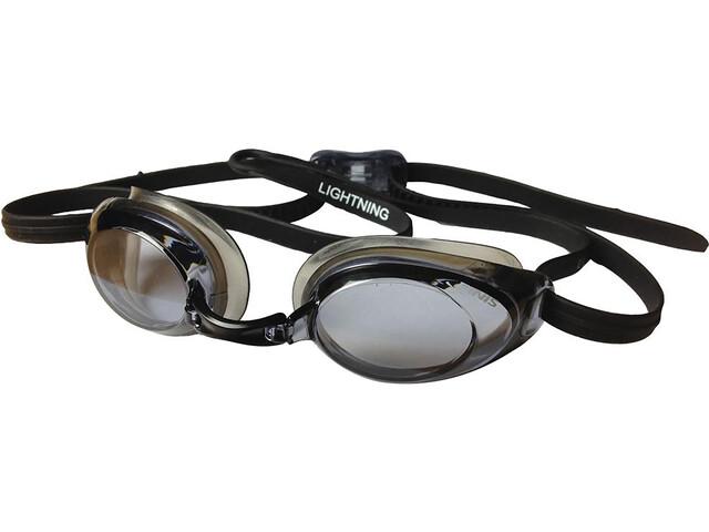 FINIS Lightning Low Profile Racing Goggles black/smoke